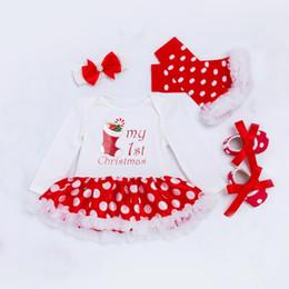 84fedf6cfff8a Nouveau bébé fille vêtements ensemble dentelle tutu barboteuse robe  combinaison + bandeau + legging + chaussures 4pcs ensemble bebes premiers  costumes de ...