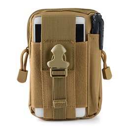 Wholesale Tactical Molle Backpack Waterproof - Wholesale-H905 Outdoor sports molle tactical pockets male 5.5   6 inch waterproof mobile phone bag multi-functional bag EDC