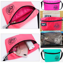 Wholesale Wholesale Beach Stuff - Pink Letter Waist Belt Bag Fashion Beach Travel Bags Handbags Purses Outdoor Small Cosmetic Bag Casual Phone Running Bags Waistpacks