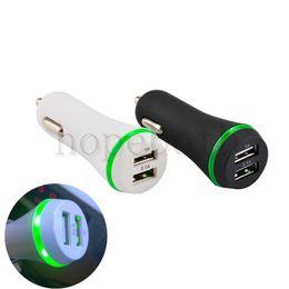2.1A Çift USB Portları Led Işık Araç Şarj Adaptörü Evrensel Charing Adaptörü iphone Samsung S7 HTC LG Cep telefonu supplier led cell phone car charger nereden liderliğindeki cep telefonu araba şarj cihazı tedarikçiler