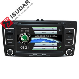 Wholesale German Dvd Player - Two Din 7 Inch Car DVD Video Player For SKODA Octavia 2009-2013 CANBUS GPS Navigation Bluetooth IPOD Radio RDS WIFI SD Free Maps