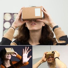 google cardboard Скидка Очки виртуальной реальности Google Картон Очки 3D Очки VR Box Фильмы для iPhone 5 6 7 Смартфоны VR Гарнитура для Xiaomi