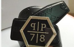 Wholesale genuine belts - Hot Brand f Belt Men Best Quality Genuine Leather Black Designer Cowhide Belt For Men Luxury Belts.