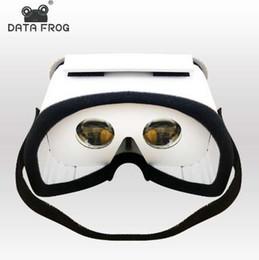 Canada Données Frog DIY Portable Lunettes de réalité virtuelle Google Carton 3D Lunettes VR Box Pour SmartPhones Pour Iphone X 7 8 VR Offre