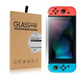 Wholesale Tempered Glass Switch - Tempered Glass Screen Protector for Nintendo Switch 2017 Ultra-clear HD 9H hardness 0.3mm 2.5D arc edge temper glass with retail package
