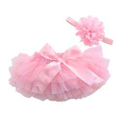 Wholesale Orange Toddler Skirt - Baby Girl Cotton Ruffle Bloomers Cute Baby Diaper Cover Newborn Flower Shorts Toddler Fashion Summer Clothing Chiffon Skirts Satin Pants