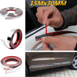 Wholesale mazda door chrome - 15M Chrome Car Body Door Edge Lip Protector Decor Moulding Trim Molding Strips