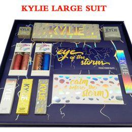 Wholesale Blue Lipsticks - Latest Set kylie The Weather Collection Bundle Flash Gloss lip Glitter eyeshadow Highlighter Lipstick Storm Full set Glittter Eyes free DHL