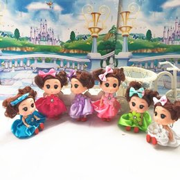 Wholesale Ddung Pendant Dolls - 12pcs lot 12CM Small Mini DDgirl Ddung Dolls Ddung for Barbie Doll Baby Toy Birthday Gift Bag Play House Dolls Barbie Dolls