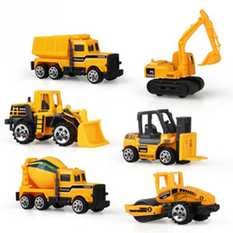 Discount construction vehicles sets - Model Toys 6pcs set Diecast Mini Model Cars Alloy Construction Vehicle Engineering Car Dump-car Dump Truck Model Toy Mini Gift for Boy