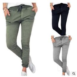 2018 verano Nueva Llegada Pantalones de Gasa Floja Ocasional Pantalones de Las Mujeres Damas Longitud del Tobillo Lápiz Pantalón Femenino pantalones harén Ropa desde fabricantes