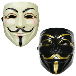 v for vendetta black mask Promo Codes - Party Masks V for Vendetta Mask Anonymous Guy Fawkes Fancy Dress Adult Costume Accessory Party Cosplay Masks