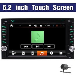 Wholesale Vehicle Car Video Camera Hd - 6.2'' in Dash Double din Vehicle Car DVD Player 2din Car Stereo Receiver Automotive Radio 1080p HD Video Headunit Bluetooth rds+Back Camera