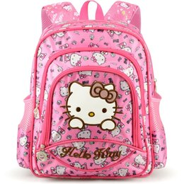 2019 olá kitty bolsas para crianças Hello Kitty Saco das Crianças crianças Mochila dos desenhos animados SchoolBag Crianças Sacos De Escola para Meninas Adolescentes bolsa de ombro Oxford à prova d 'água