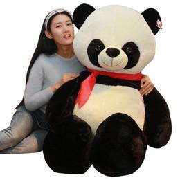 2019 panda peluche grandi kawaii cartoon panda peluche bambola abbraccio orso grande peluche animali panda giocattolo cuscino per la ragazza regalo 120 cm 160 cm panda peluche grandi economici