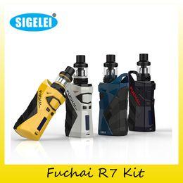 Wholesale Tc Box Mod Kits - Authentic Sigelei Fuchai R7 Kit 2x 18650 Battery 230W TC Box Mod For Original 2.5ml T4 Tank 100% Genuine 2207083
