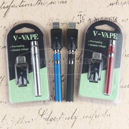 Esmart caneta vape on-line-510 Botão eVod Bateria 350 mAh Pré-aqueça Vape Variável Tensão Óleo Espesso eSmart Vaporizador Caneta para Vape Cartuchos Wickless Coil De Cerâmica