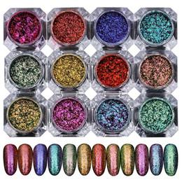 Deutschland 1 Box Shinning Chamelone Nagel Glitter Pulver Maniküre Nail Art Sternenhimmel Glitters Maniküre Nial Kunst Dekoration für Gelpoliermittel cheap sky nail polish Versorgung
