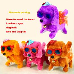 Wholesale electronic dog bark - Electronic plush toys dog Pets Hot Selling New Fashion Walking Barking Toy High Quality Funny Electric Short Floss Dog