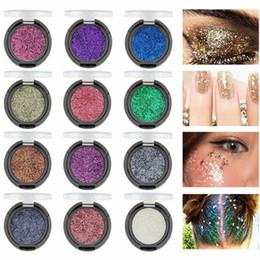 Glitter cosmetici sciolti online-MK 12 Colori Ombretto Trucco Occhi Glitter Polvere Sciolto Shimmer Pigmento Labbra Cosmetici Viso Nails Corpo Glitter Art Decor Trucco