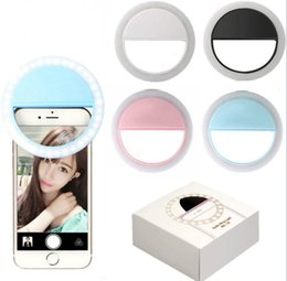2019 anillo de flash universal Portable Universal Selfie Ring Flash lámpara de teléfono LED luz de relleno Selfie Ring Flash iluminación cámara fotografía para Iphone Samsung Android anillo de flash universal baratos
