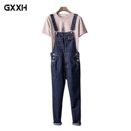 xxxl tamanho jeans feminino Desconto Calças de brim siameses japoneses masculinos coreano calças magras casais babadores masculino ferramental suspensórios homens / mulheres tamanho do trabalho s-xxl xxxl 4xl 5xl