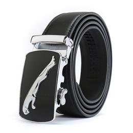 Wholesale Wholesale Designer Mens Belts - New Casual Jaguar Top Designers Luxury Cowhide Brand Genuine Leather Belts for Mens Wedding Male Cowskin Strap Ceinture Homme