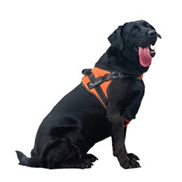 Wholesale Reflective Dog Harnesses - Top Quality Reflective Nylon Large Pet Dog Harness All Weather Service Dog Ves Padded Adjustable Safety Vehicular Lead for Dogs
