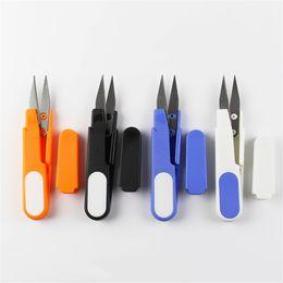 u herramientas Rebajas Tijeras de acero inoxidable Multi Color Mini U Tipo Línea de pez Tijera Herramienta de costura de mano Venta caliente 1 68dc T