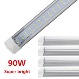 2019 lastro de luz led A luz do tubo do diodo emissor de luz, 8FT 90W, lâmpada integrada dobro do lado do bulbo, trabalha sem reator T8, apto para a utilização, 5000k 6000K claro / tampa leitosa -25pcs desconto lastro de luz led