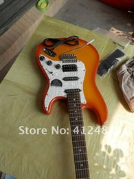 Wholesale Sunset Guitar - Free shipping New Arrival High Quality F Stratocaster 5 Star Signature Sunset Burst Custom Shop Electric Guitar In Stock