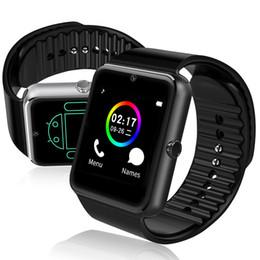 Argentina GT08 Smart Watch Bluetooth Smartwatches para Android Smartphones Ranura para tarjeta SIM NFC Health Watchs para Android con caja al por menor Suministro