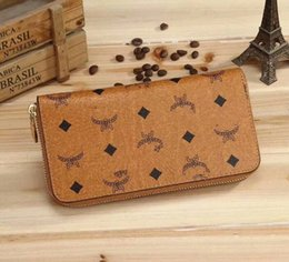 Wholesale Genuine Leather Checkbook Wallet - 2018 Sell like hot cakes Women High quality Genuine leather wallet bag Ms. hand bag brand purse M002
