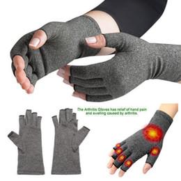 guantes de cobre Rebajas Forme un par Guantes de compresión de cobre Artritis del carpo Dolor articular Promueva los guantes de circulación