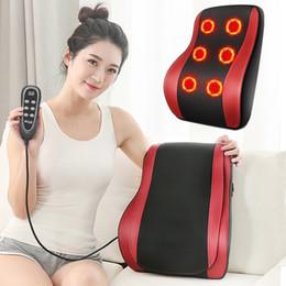 Almohadas saludables online-Cuello de calefacción Almohada de masaje Almohada con función Shiatsu Cervical Healthy Massageador Almohada de alta calidad Envío gratuito