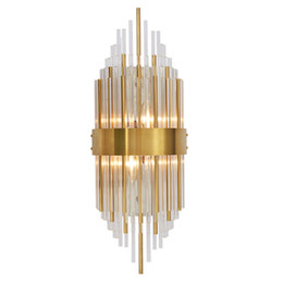 Wholesale Golden Crystal Wall Lamp - Modern crystal wall lamp golden living room background wall lamp corridor decorative lamps