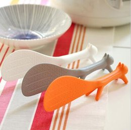 Wholesale modelling sticks - Squirrel Modelling Meal Spoon Lovely Kitchen Rice Scooper Squirrel Shaped Ladle Non Stick Rice Paddle Meal Spoon CCA9759 100pcs