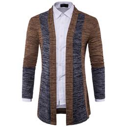 Hommes Pull Marque Cardigan Patchwork Tricoté Pull Hommes Slim Fit Plus Size Manteau Pull À Manches Longues Hommes ? partir de fabricateur