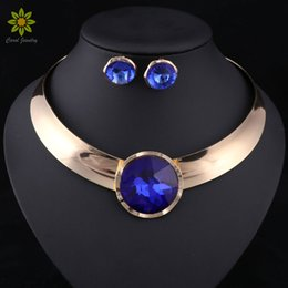 sell statement necklaces Coupons - Fashion Jewelry Sets Women Jewelry Sets Trendy Necklace With Earrings Statement Necklace For Party Wedding Fashion 2017 Direct Selling