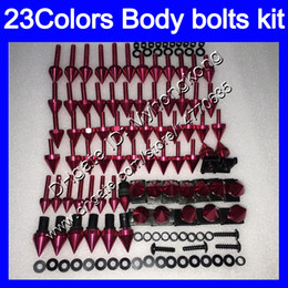 Kit de triunfo on-line-Carenagem parafusos kit parafuso completo Para Triumph Daytona 600 03 04 05 Daytona600 Daytona 650 2003 2004 2005 25Colors kit parafuso porcas do corpo parafusos porca