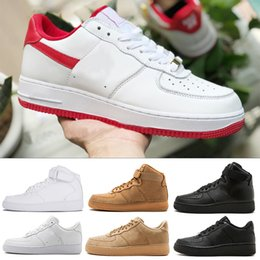 AIR FORCE ONE 1 af1 one shoes new Originals economici One Forceing 1 Mens  Womens Casual Shoes Classic Low Red Designer Flat Skate Skateboard Unisex  Uomo ... 4796c6da1a8