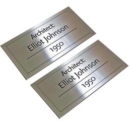 2019 aguafuerte de acero inoxidable Personalice la placa de identificación de acero inoxidable cepillado, electrochapado con la impresión de grabado Fabricación para maquinaria y equipo Industrias Empresa aguafuerte de acero inoxidable baratos