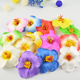 Wholesale Plumeria Wedding - 8-9cm Hawaii PE Plumeria Tropical Frangipani Flower Hibiscus flower for DIY headwear 20pcs lot