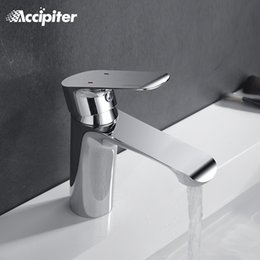 paint bathroom vanity UK - Bathroom Faucet Deck Mounted Basin Mixer Faucet Chrome Sink Tap Vanity Hot Cold Water White Painting Tap
