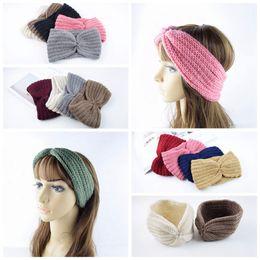 Femmes Turban Tricoté Bandeau Cheveux Bandeau Hiver Oreille Warmer Bandeau Crochet Câble Bandeau Oreilles LJJO4225 ? partir de fabricateur