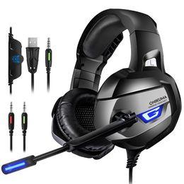 ONIKUMA K5 Gaming Headset с микрофоном Gaming PC Компьютерные наушники с шумоподавлением для PS4 Xbox One от Поставщики для наушников