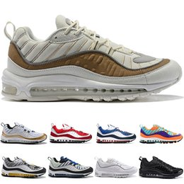 12 zapatos baratos Rebajas 98 Zapatillas de running para hombre 98s AOP Cone Gundam Triple Negro Blanco Tour Yellow Racer Blue Barato Hombres Diseñador de deporte Zapatilla deportiva Tamaño 7-12