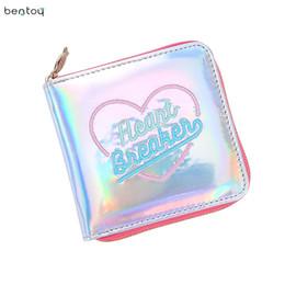 Wholesale Moon Wallet - Fashion Korean Square Women Card Holder Short Wallet Laser Hologram Embroidery Moon Night Clutch Coin Purse Pocket Money Bag