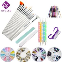 Wholesale Nail Items - Moglad 10 Items  Lot Nail Art Tool Set Professional Nail Brushes Painting Tool Diy Nail Rhinestone Decoration Manicure Set Kit