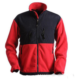 Vellón a prueba de viento de los hombres online-2018 Nuevo invierno de los hombres chaquetas de SoftShell abrigos abrigo de esquí al aire libre caliente abajo chaquetas abrigos talla S-XXL